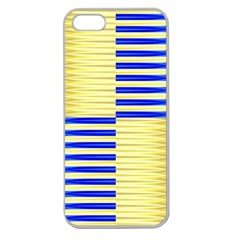 Metallic Gold Texture Apple Seamless Iphone 5 Case (clear)