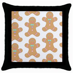 Pattern Christmas Biscuits Pastries Throw Pillow Case (black)