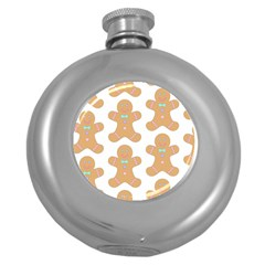 Pattern Christmas Biscuits Pastries Round Hip Flask (5 Oz)