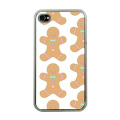 Pattern Christmas Biscuits Pastries Apple Iphone 4 Case (clear)
