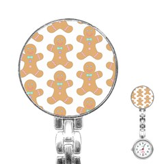 Pattern Christmas Biscuits Pastries Stainless Steel Nurses Watch