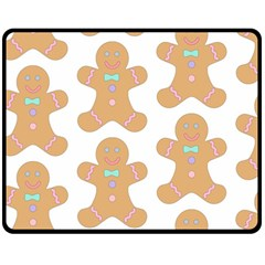 Pattern Christmas Biscuits Pastries Double Sided Fleece Blanket (medium)