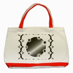 Metal Circle Background Ring Classic Tote Bag (red)