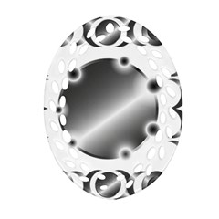 Metal Circle Background Ring Oval Filigree Ornament (two Sides)