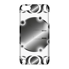 Metal Circle Background Ring Apple Ipod Touch 5 Hardshell Case With Stand