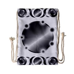 Metal Circle Background Ring Drawstring Bag (small)