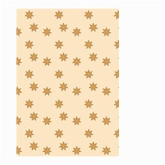 Pattern Gingerbread Star Small Garden Flag (two Sides)