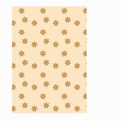 Pattern Gingerbread Star Large Garden Flag (two Sides)