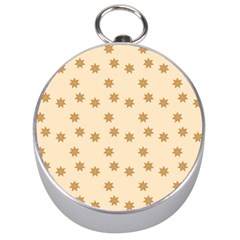 Pattern Gingerbread Star Silver Compasses