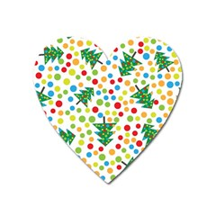 Pattern Circle Multi Color Heart Magnet