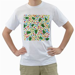 Pattern Circle Multi Color Men s T Shirt (white)