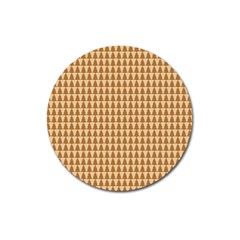 Pattern Gingerbread Brown Magnet 3  (round)