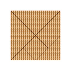 Pattern Gingerbread Brown Acrylic Tangram Puzzle (4  X 4 )