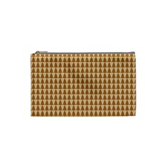 Pattern Gingerbread Brown Cosmetic Bag (small)