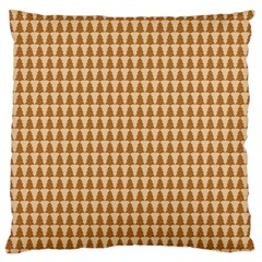Pattern Gingerbread Brown Large Flano Cushion Case (two Sides)