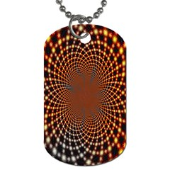 Pattern Texture Star Rings Dog Tag (one Side)