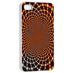 Pattern Texture Star Rings Apple Iphone 4/4s Seamless Case (white)