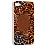 Pattern Texture Star Rings Apple iPhone 4/4s Seamless Case (White) Front