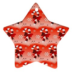Seamless Repeat Repeating Pattern Star Ornament (two Sides)