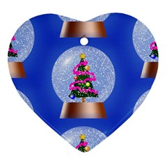 Seamless Repeat Repeating Pattern Art Heart Ornament (two Sides)