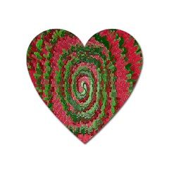 Red Green Swirl Twirl Colorful Heart Magnet