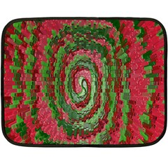 Red Green Swirl Twirl Colorful Fleece Blanket (mini)