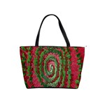 Red Green Swirl Twirl Colorful Shoulder Handbags Front