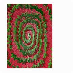 Red Green Swirl Twirl Colorful Large Garden Flag (two Sides)