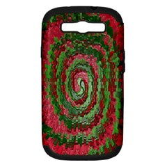 Red Green Swirl Twirl Colorful Samsung Galaxy S Iii Hardshell Case (pc+silicone)