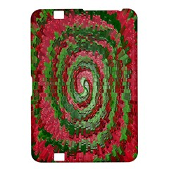 Red Green Swirl Twirl Colorful Kindle Fire Hd 8 9