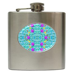 Season For Roses And Polka Dots Hip Flask (6 Oz)