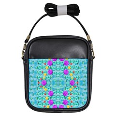 Season For Roses And Polka Dots Girls Sling Bags
