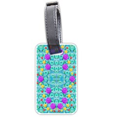 Season For Roses And Polka Dots Luggage Tags (one Side)