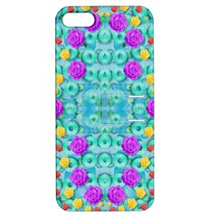 Season For Roses And Polka Dots Apple Iphone 5 Hardshell Case With Stand