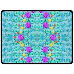 Season For Roses And Polka Dots Double Sided Fleece Blanket (large)