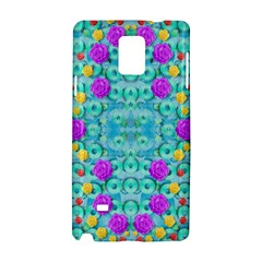 Season For Roses And Polka Dots Samsung Galaxy Note 4 Hardshell Case