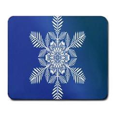 Snow Flake Crystal Snow Winter Ice Large Mousepads