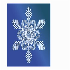 Snow Flake Crystal Snow Winter Ice Small Garden Flag (two Sides)