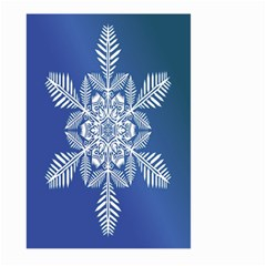 Snow Flake Crystal Snow Winter Ice Large Garden Flag (two Sides)