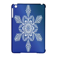 Snow Flake Crystal Snow Winter Ice Apple Ipad Mini Hardshell Case (compatible With Smart Cover)