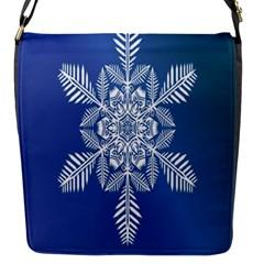 Snow Flake Crystal Snow Winter Ice Flap Messenger Bag (s)