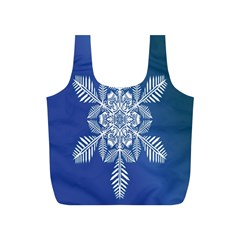 Snow Flake Crystal Snow Winter Ice Full Print Recycle Bags (s)