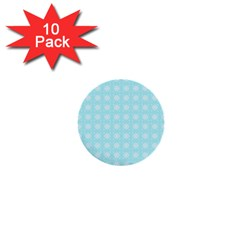 Snowflakes Paper Christmas Paper 1  Mini Buttons (10 Pack)