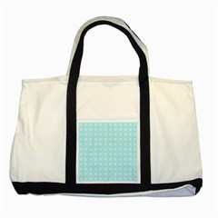 Snowflakes Paper Christmas Paper Two Tone Tote Bag