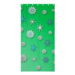 Snowflakes Winter Christmas Overlay Shower Curtain 36  X 72  (stall)