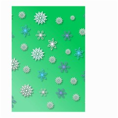 Snowflakes Winter Christmas Overlay Small Garden Flag (two Sides)