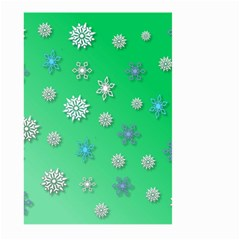 Snowflakes Winter Christmas Overlay Large Garden Flag (two Sides)