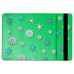 Snowflakes Winter Christmas Overlay Ipad Air 2 Flip