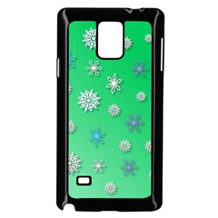 Snowflakes Winter Christmas Overlay Samsung Galaxy Note 4 Case (black)