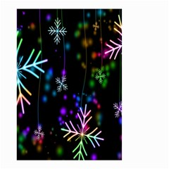 Snowflakes Snow Winter Christmas Small Garden Flag (two Sides)